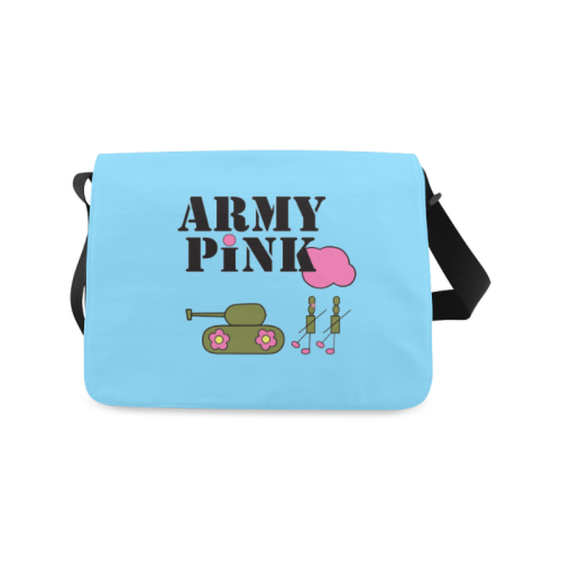 Logo on blue Messenger Bag (Model 1628) for  at ARMY PINK