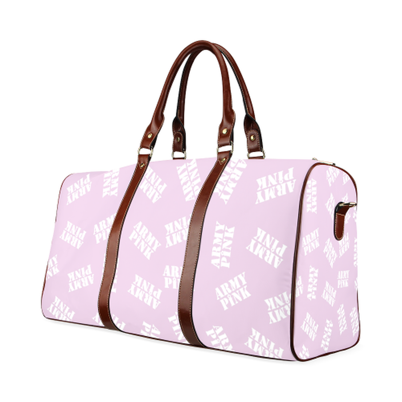 large travel white stamp violet Waterproof Travel Bag/Large (Model 1639) for  at ARMY PINK