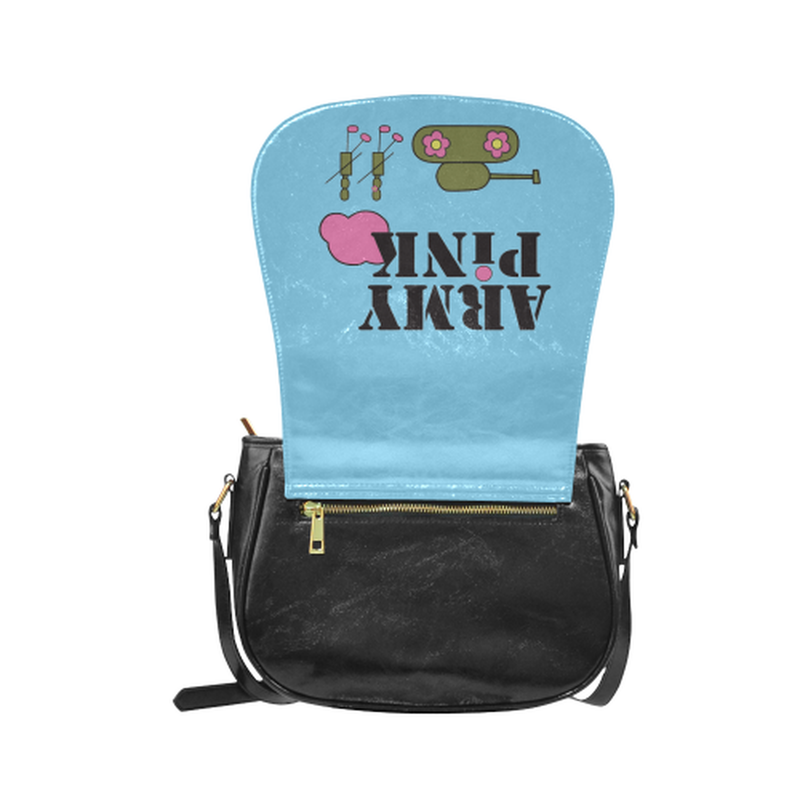 Logo on blue Classic Saddle Bag/Small (Model 1648) for  at ARMY PINK