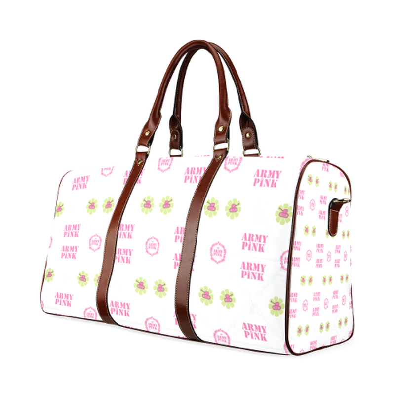 large travek bag aop3 on white Waterproof Travel Bag/Large (Model 1639) for  at ARMY PINK