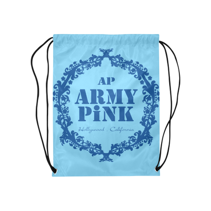 "Royal wreath on blue Medium Drawstring Bag Model 1604 (Twin Sides) 13.8""(W) * 18.1""(H) for  at ARMY PINK"