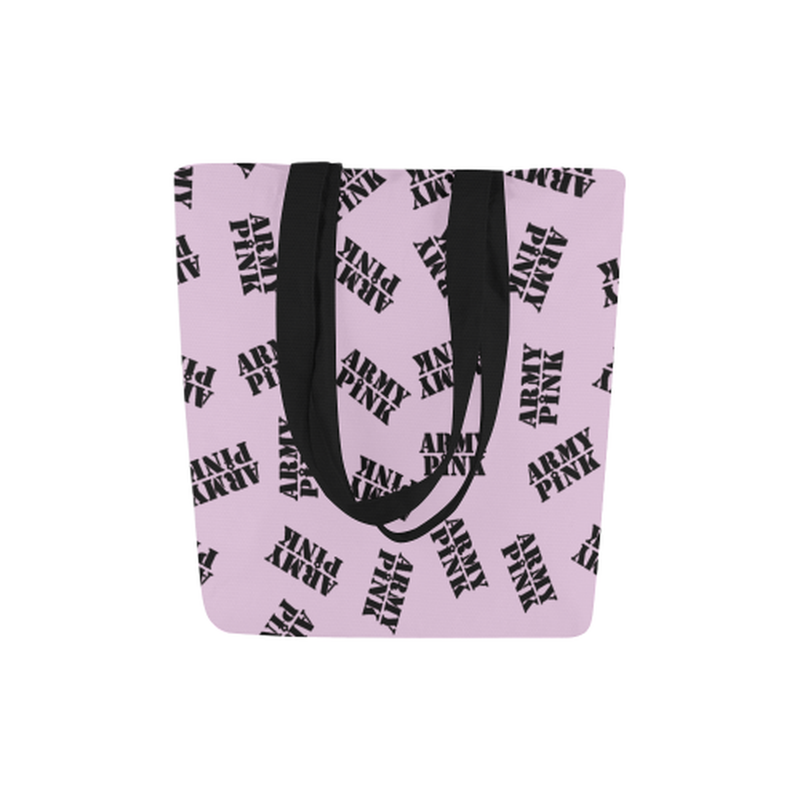 Lilac black stamp Canvas Tote Bag for  at ARMY PINK