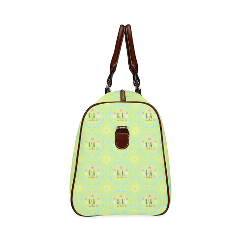 small travel marchers round aop on green Waterproof Travel Bag/Small (Model 1639) for  at ARMY PINK