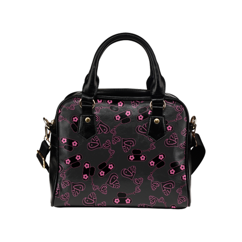 Love tanks on black Shoulder Handbag for  at ARMY PINK