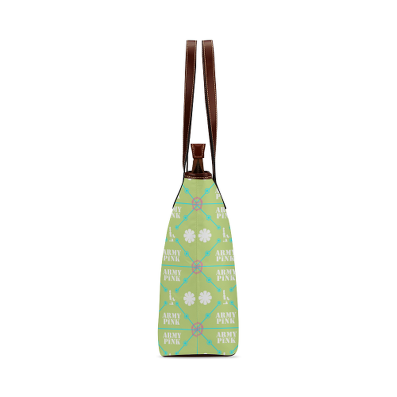 Diamond pattern on green Shoulder Tote Bag (Model 1646) for  at ARMY PINK