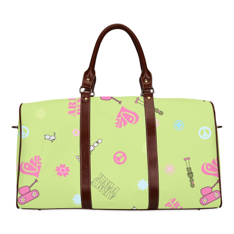 Small green logo Travel Bag for  at ARMY PINK