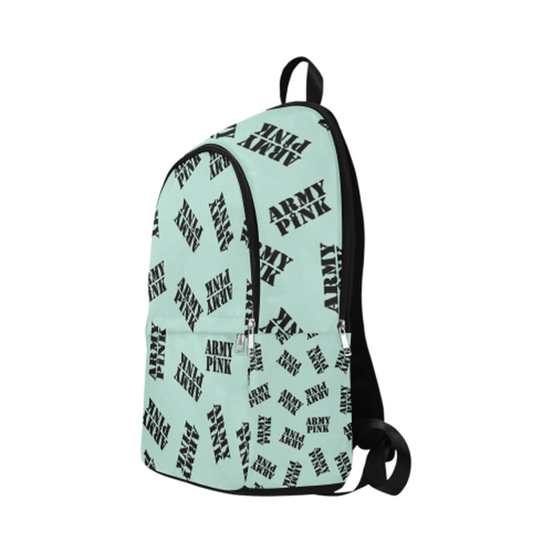 Black stamps on mint Fabric Backpack for Adult (Model 1659) ${product-type) ${shop-name)