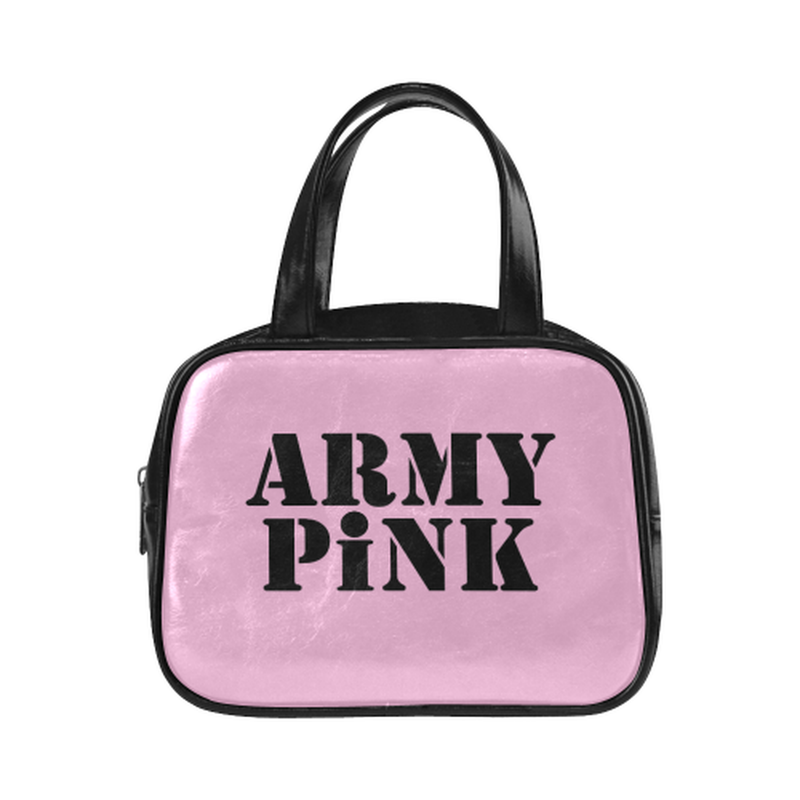 Army Pink on pink Leather Top Handle Mini Handbag for  at ARMY PINK