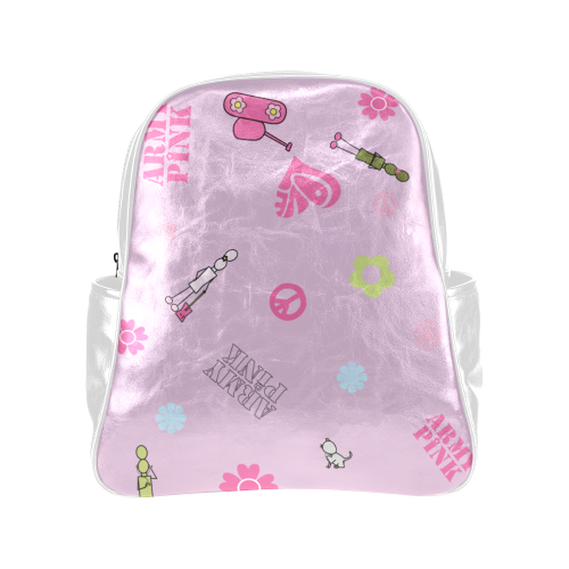 Logo print on violet Multi-Pockets Backpack ${product-type) ${shop-name)