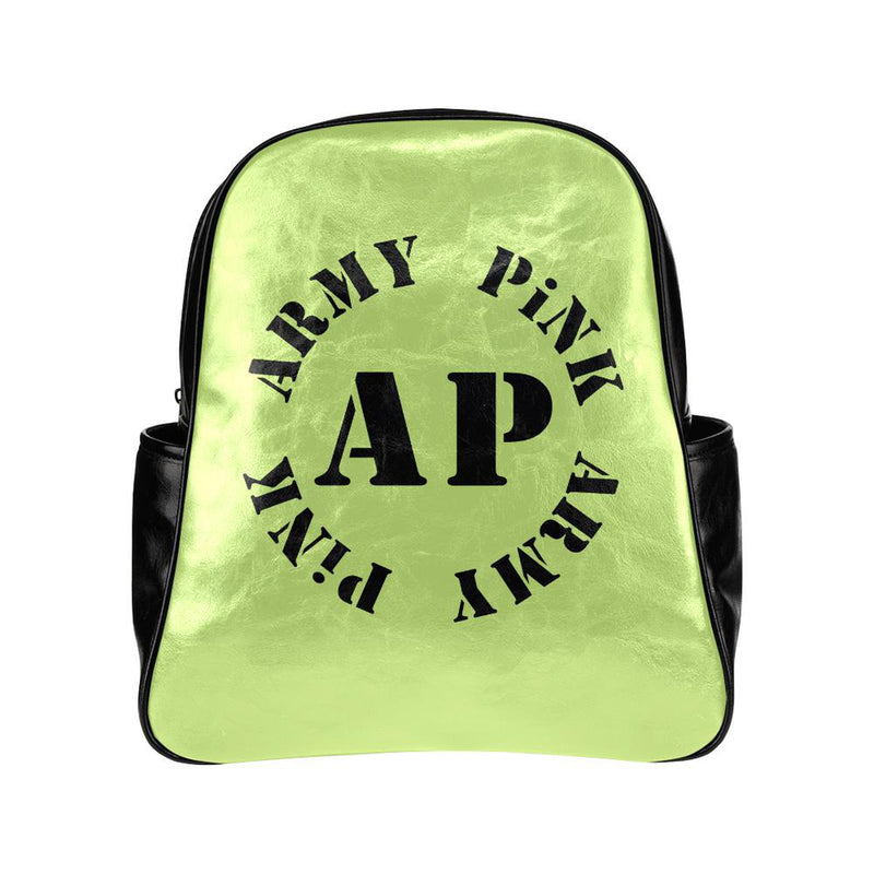 Round logo on green for  at ARMY PINK