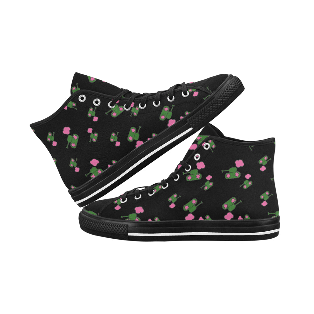 Black Tank Hi Top Canvas Shoes for 49.00 at ARMY PINK