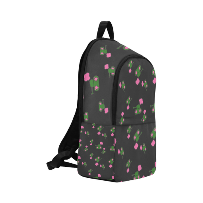 Black tank cloud print Fabric Backpack for  at ARMY PINK