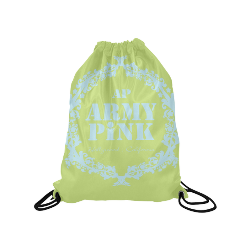 Green mint wreath Drawstring Bag for  at ARMY PINK