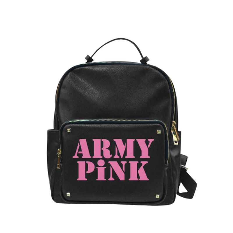 Pink Army Pink on black Campus backpack/Small (Model 1650) for  at ARMY PINK