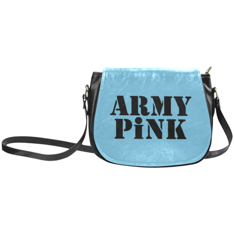 Army Pink on Blue Saddle Bag ${product-type) ${shop-name)