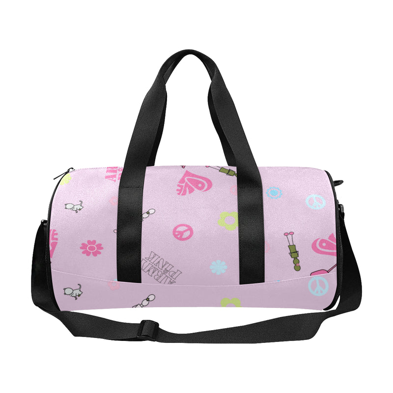 Pink Logo Print Duffle Bag for  at ARMY PINK
