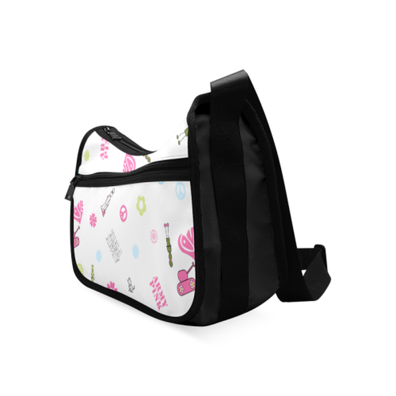 Logo print on white Crossbody Bags (Model 1616) for  at ARMY PINK
