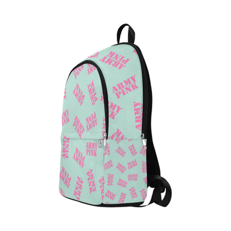 Pink stamps on mint Fabric Backpack for Adult (Model 1659) for  at ARMY PINK