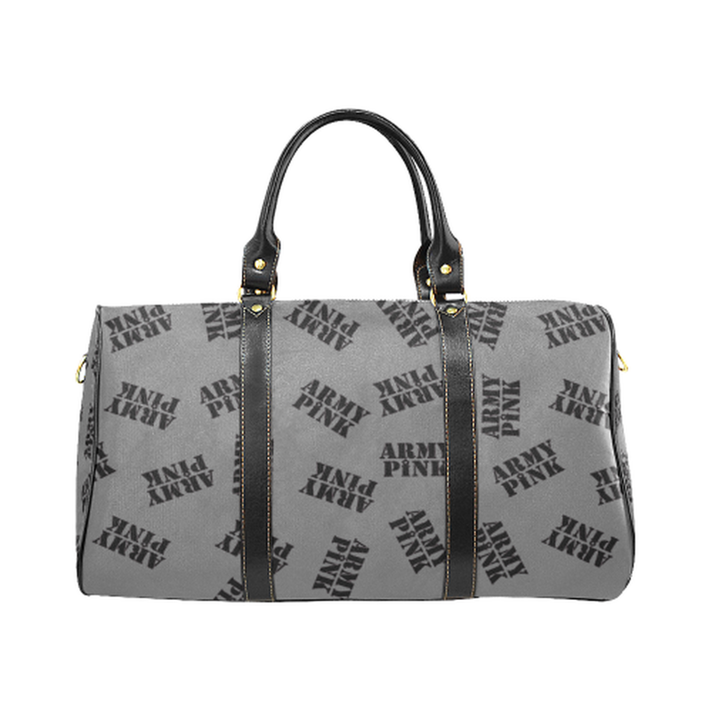 Small gray black stamp Travel Bag for  at ARMY PINK