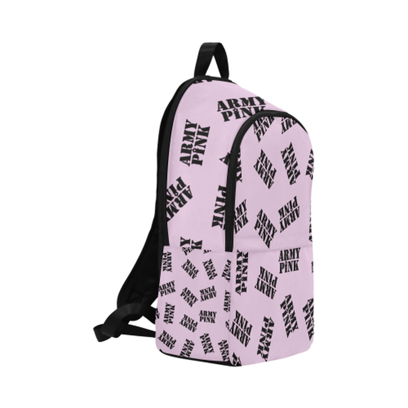 Black stamps on violet Fabric Backpack for Adult (Model 1659) for  at ARMY PINK