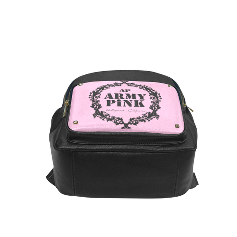 Black wreath on pink Campus backpack/Small (Model 1650) for  at ARMY PINK