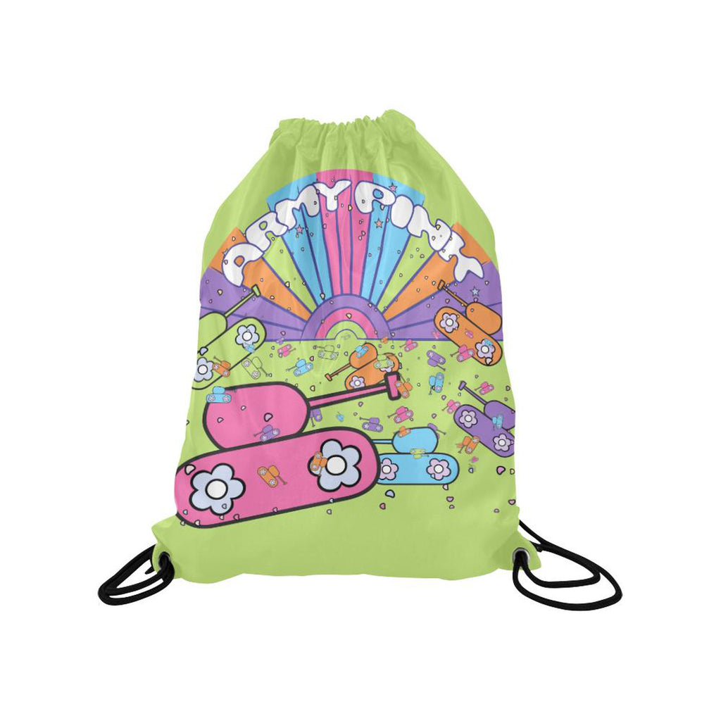 Green sunshine Drawstring Bag for  at ARMY PINK
