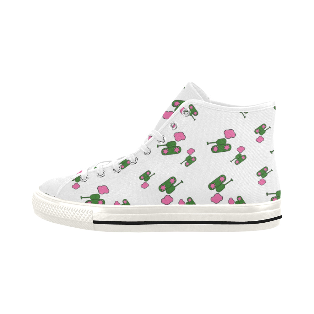 White Tank Hi Top Canvas Shoes for 49.00 at ARMY PINK