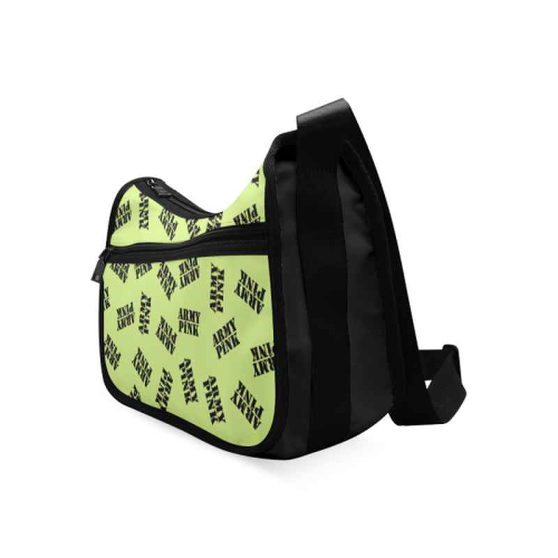 Green black stamp Crossbody Bag ${product-type) ${shop-name)