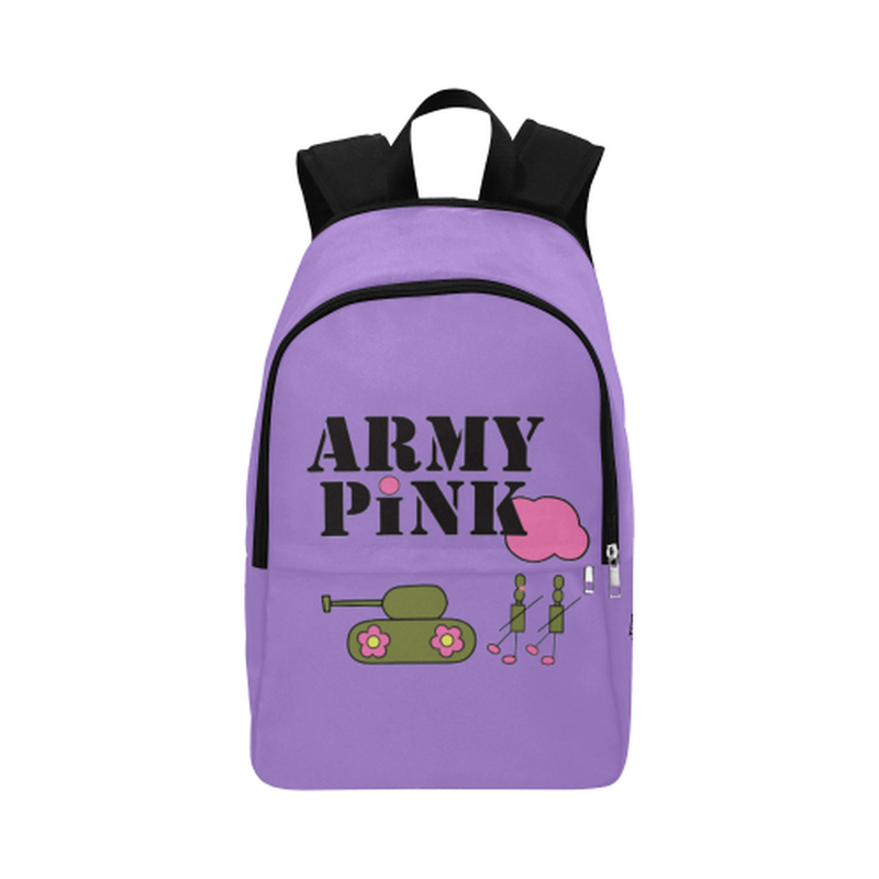Purple Logo Fabric Backpack ${product-type) ${shop-name)