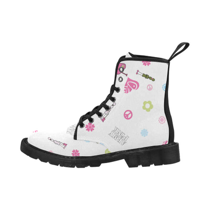Logo print white Boots for 60.00 at ARMY PINK