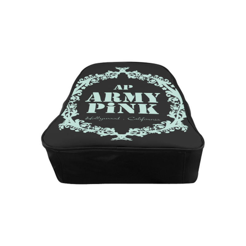 Mint wreath on black School Backpack (Model 1601)(Medium) for  at ARMY PINK