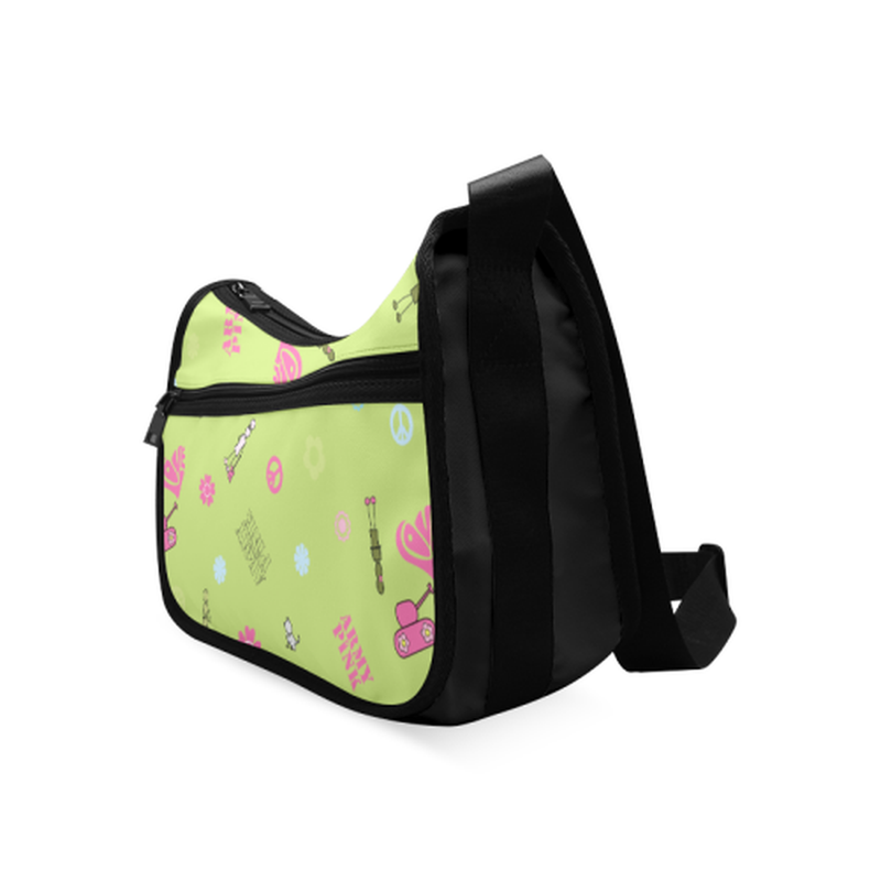 Logo print on green Crossbody Bags (Model 1616) for  at ARMY PINK