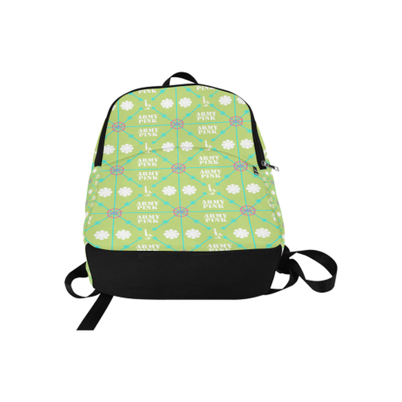 Diamond logo pattern on green Fabric Backpack for Adult (Model 1659) for  at ARMY PINK