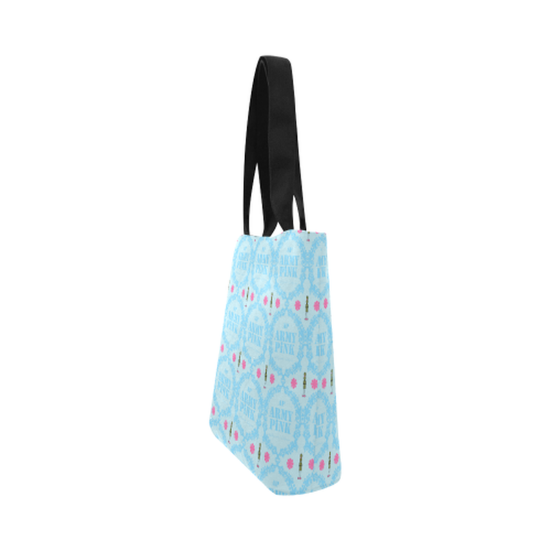 Blue wreath Canvas Tote Bag for  at ARMY PINK