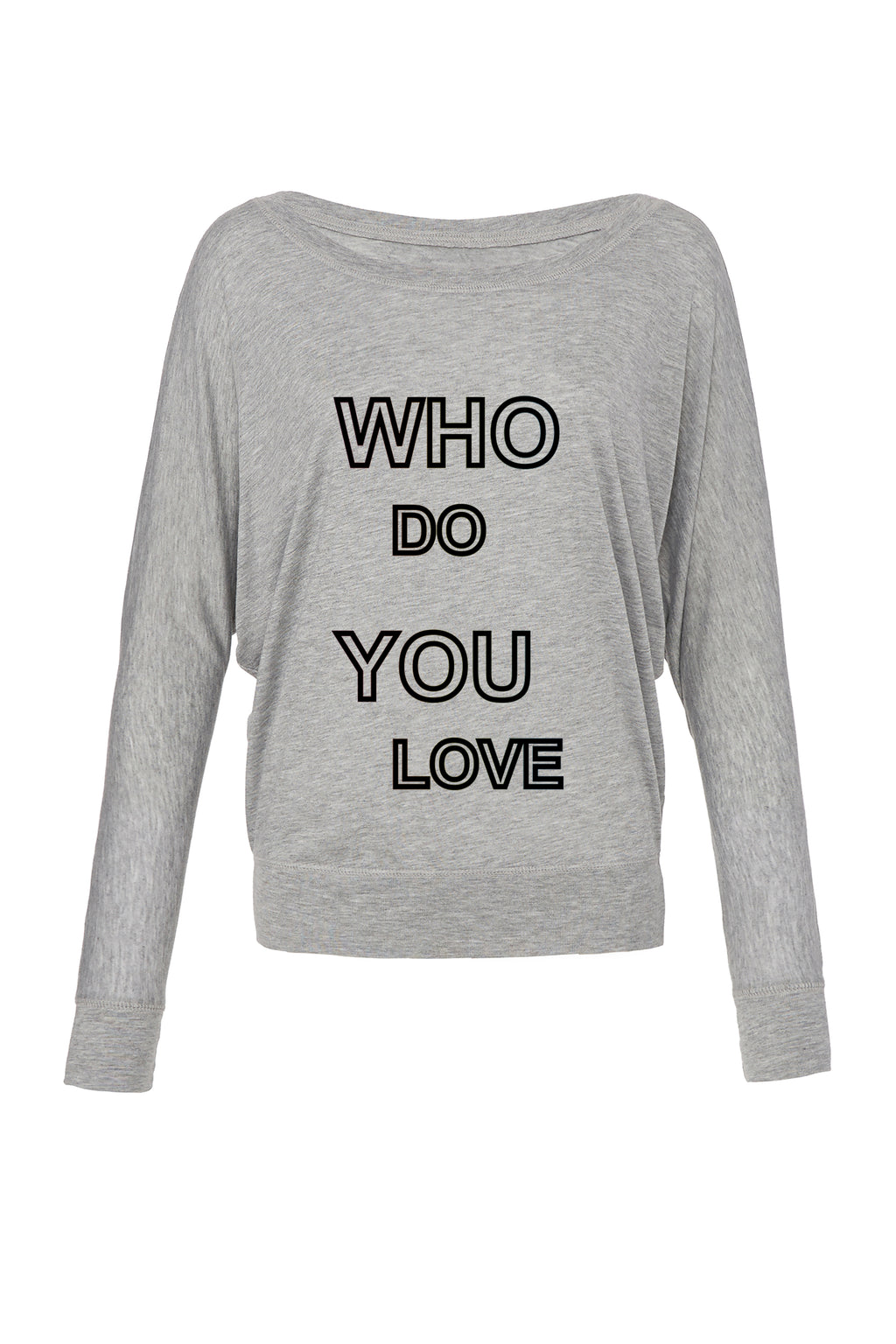 Athletic Heather Graphic Long Sleeve Top: Who Do You Love for 42.00 at ARMY PINK