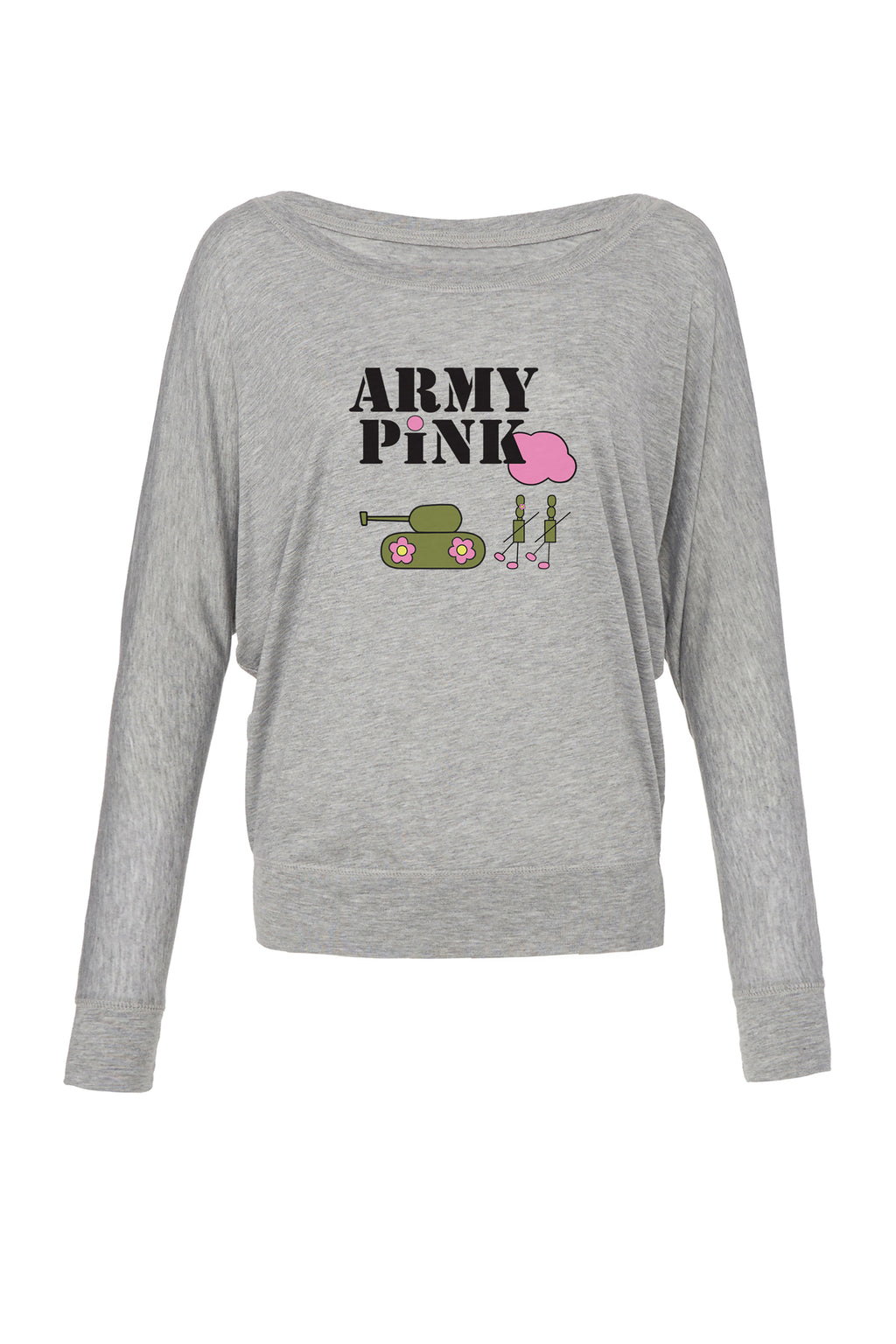 Athletic Heather Graphic Long Sleeve: Army Pink Logo for 42.00 at ARMY PINK