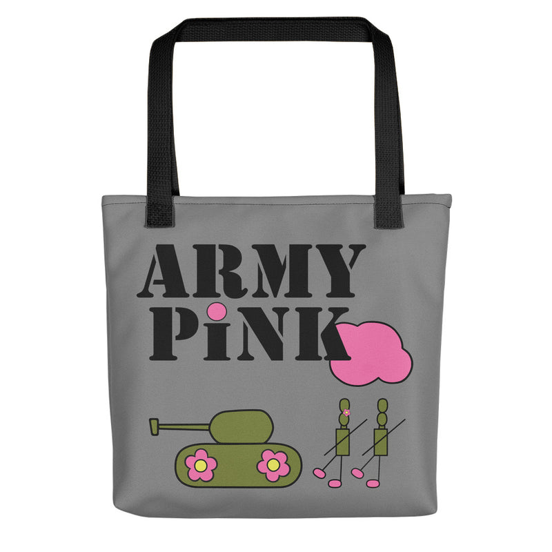 Large Gray Logo Beach Bag for 35.00 at ARMY PINK