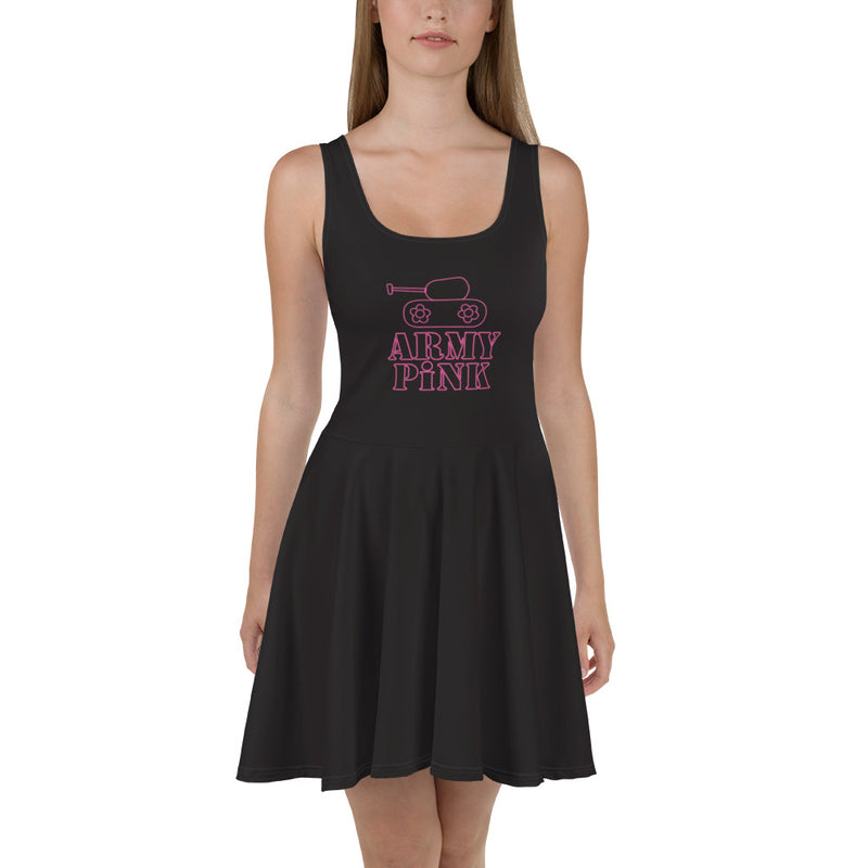 Pink tank logo skater dress for 52.00 at ARMY PINK
