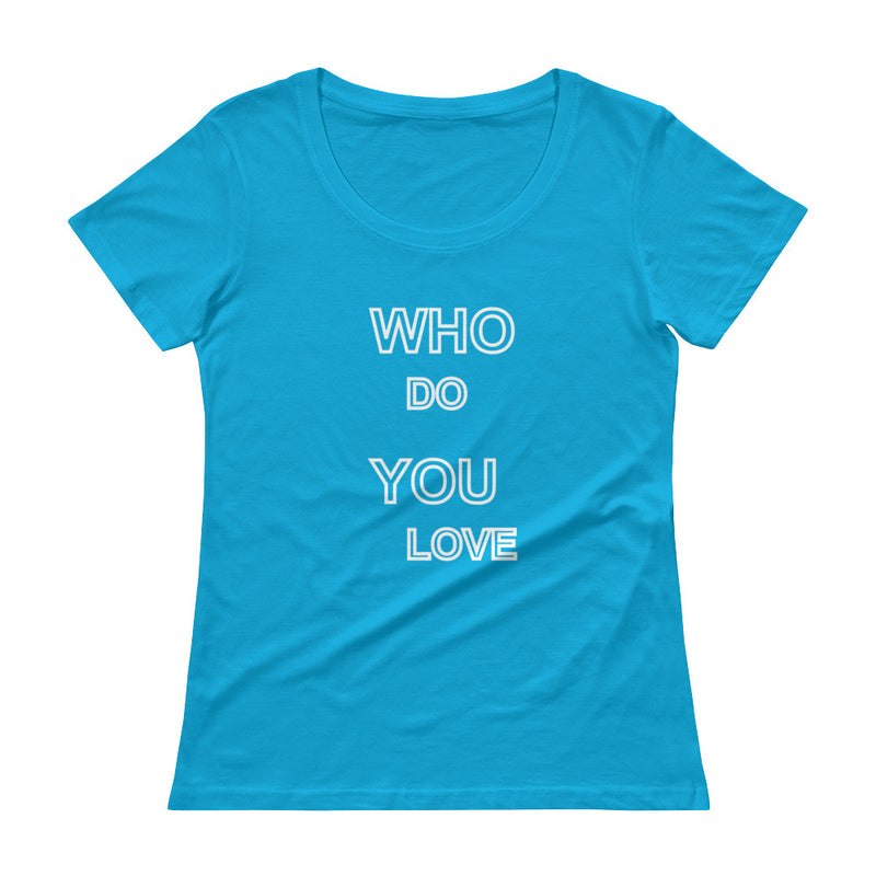 Who do you  love Scoopneck T-Shirt for 28.00 at ARMY PINK