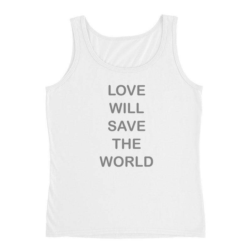 Tank Top with gray love saves graphic for 28.00 at ARMY PINK