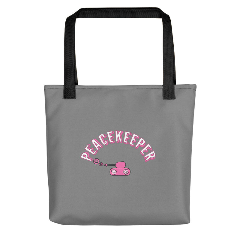 Large Gray Peacekeeper Beach Bag for 35.00 at ARMY PINK