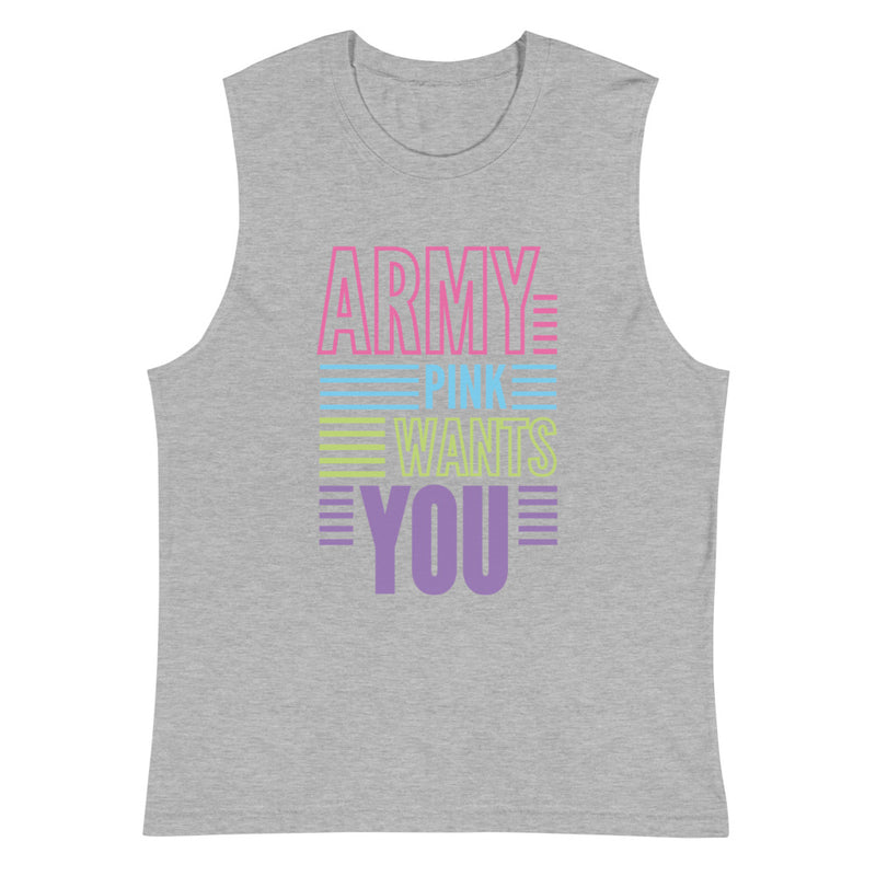 Wants You Muscle Shirt for 24.00 at ARMY PINK