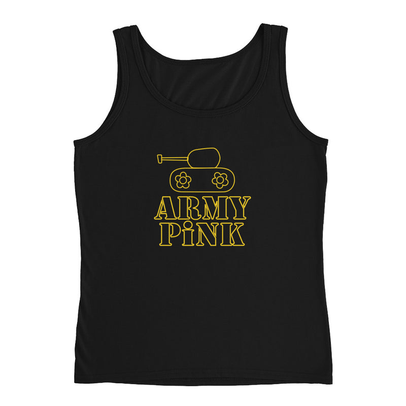 Tank Top with gold logo graphic for 28.00 at ARMY PINK