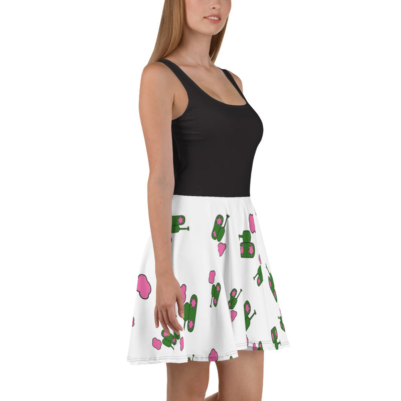 White logo print Skater Dress for 54.00 at ARMY PINK