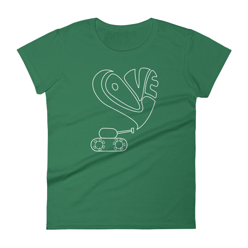 Short sleeve t-shirt with white love tank graphic for 29.95 at ARMY PINK