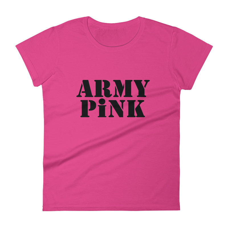 Short sleeve t-shirt with black logo for 29.95 at ARMY PINK