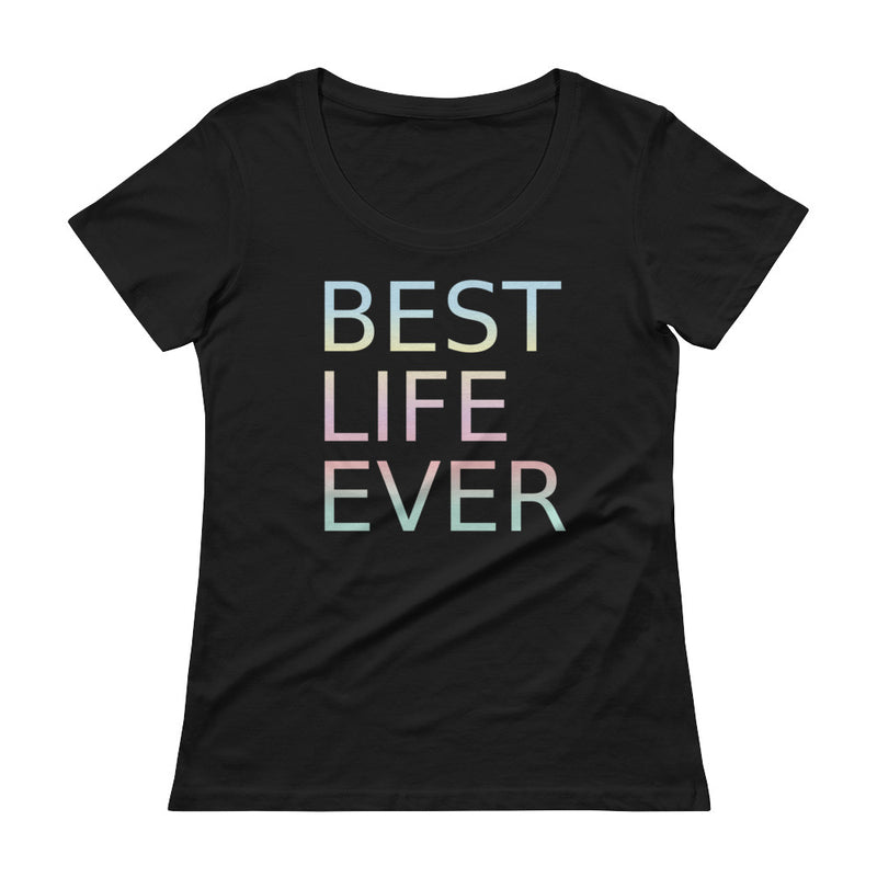 Pastel Best Life Ever Scoop Neck T-Shirt for 28.00 at ARMY PINK
