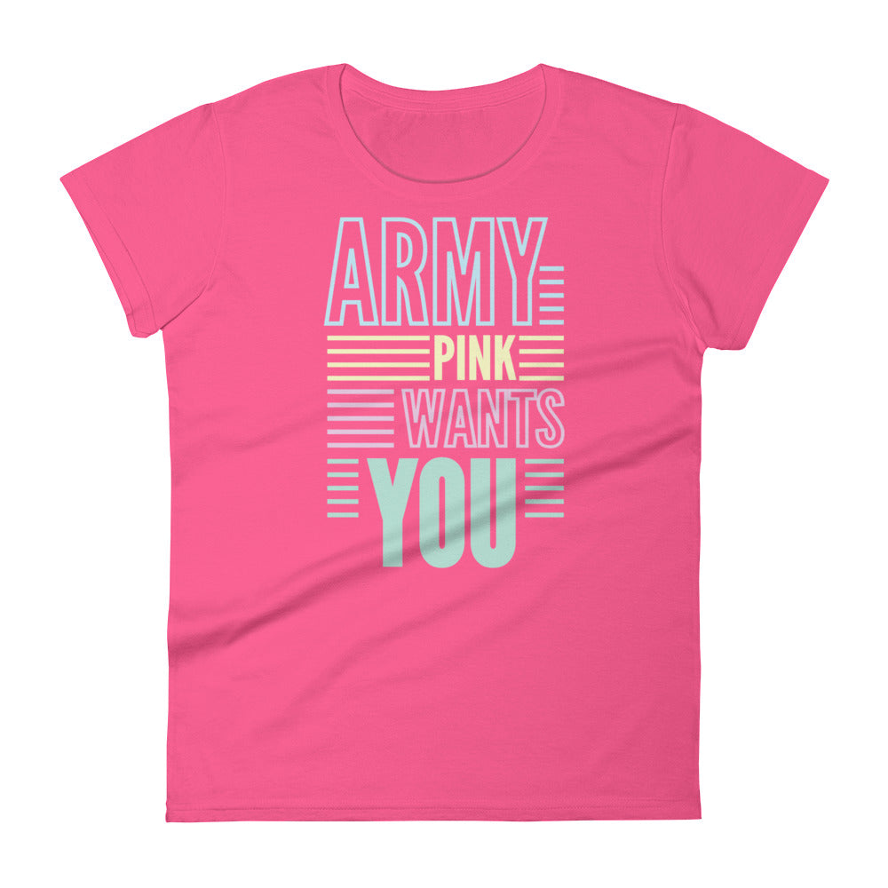 Wants You short sleeve t-shirt for 24.00 at ARMY PINK
