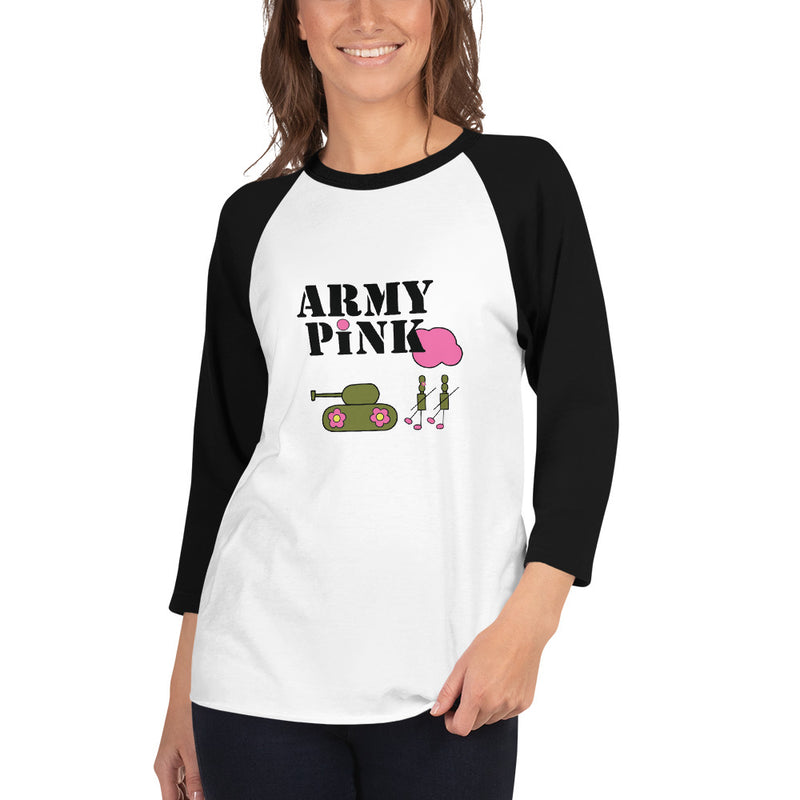 Logo 3/4 sleeve raglan shirt for 24.00 at ARMY PINK