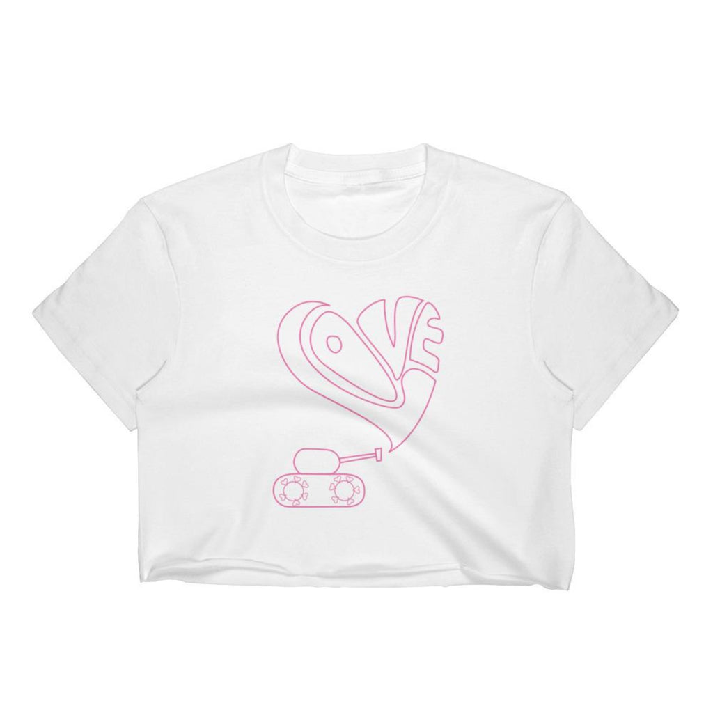 Love tank crop top for 24.00 at ARMY PINK